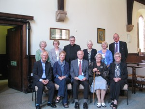 Farewell to Nick Henley Price (seated centre) August 2013
